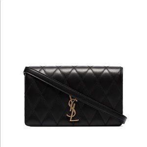New authentic Saint Laurent Angie quilted bag
